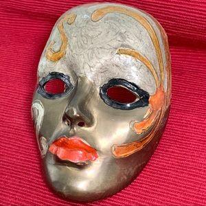 Metal Lady Face Mask Mardi Gras Style